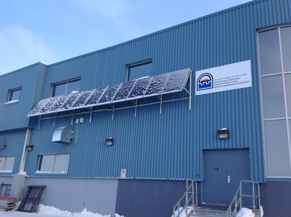Facade mounted system in Iqaluit using existing penetrations