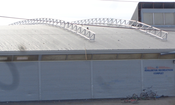 A-Frame system custom designed for a curved roof