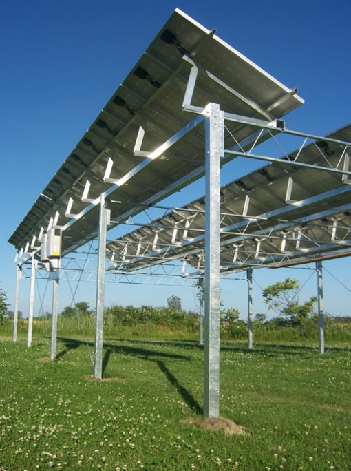 Angle-Adjustable pv System Using A-Frames on Elevated Structure